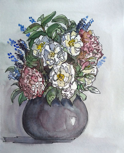 2719 Bowl of flowers